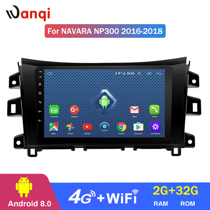 4G 3G WIFI All Netcom 2+32G10 inch Android 8.0 full touch car multimedia system For <font><b>Nissan</b></font> <font><b>navara</b></font> <font><b>NP300</b></font> 2016-2018 gps navigation image