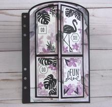 Kljuyp planejador porta abre no meio de corte de metal dados scrapbook papel artesanato decoração dados scrapbooking