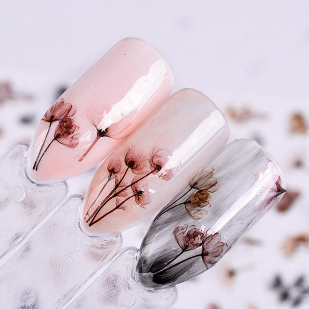 DIY 3D Dandeli цветок Маникюр Клей для накладных ногтей наклейки украшения 2020