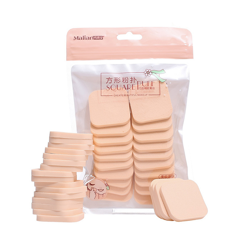 20pcs Facial Sponges Soft Powder Puff for BB Cream Cosmetic Puff Wet and Dry Use Makeup Sponge Powder Puff Foundation Cosmetic