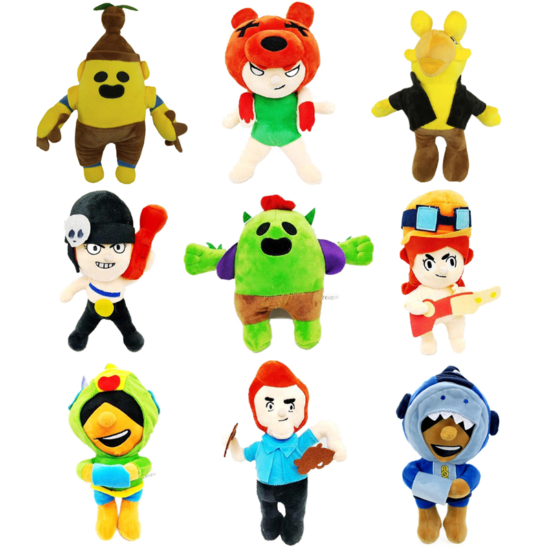 Brawl Stars Game Plush Dolls Cartoon Star Hero Anime Figures Model Spike Shelly Leon Primo Mortis Boy Girl Toy Kid Birthday Gift