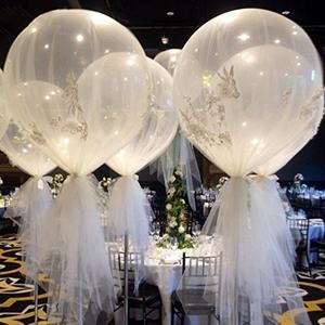 1 Набор 36-дюймовых воздушных шаров Bobo Bubble с розовым, черным, белым сетчатым тюлем, сетчатая ткань, свадебное украшение, аксессуары для юбки-па...