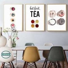 Пончики десерт Кофе Чай настенная Картина на холсте постеры