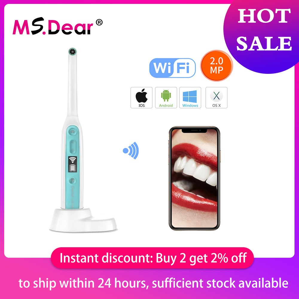 Wireless WiFi Oral Dental Endoscope HD Oral Intraoral Endoscope Camera LED Light Real-time Video Inspection Teeth Whitening Tool