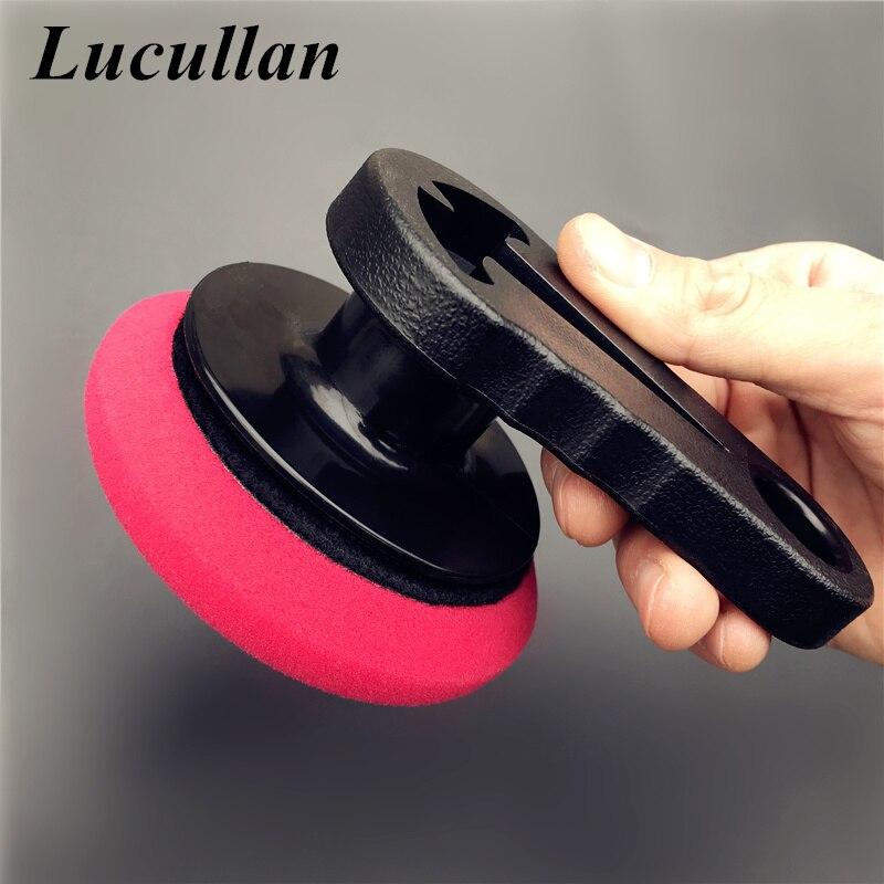 Lucullan Car Waxing Dressing Tools Portable Grip Applicator Handheld Sponge For Detailers