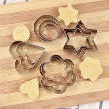 12/24 Stainless Steel Biscuit Candy Chocolate Mould Heart Shape Mousse Cake Mould Waffle Cookie Mould Vegetable Baking Tool(China)