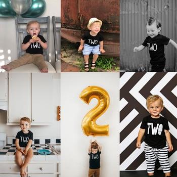 Camiseta de 2 ° cumpleaños para niño pequeño, camiseta de 2 ° cumpleaños para niño, camiseta de dos cumpleaños para niño niña, camisetas de moda para segundo cumpleaños