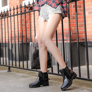 Image 4 - SWYIVY Chelsea Boots Women Ankle Rain Boots 2019 Autumn Fashion Waterproof Non slip Gumd Boots Women Casual Shoes Rainboot