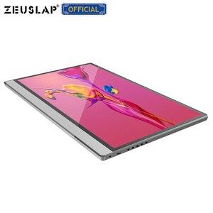 Image 2 - ZEUSLAP מגע מסך נייד צג 1920x1080 FHD IPS 15.6 אינץ תצוגת צג נטענת סוללה עם נרתיק עור