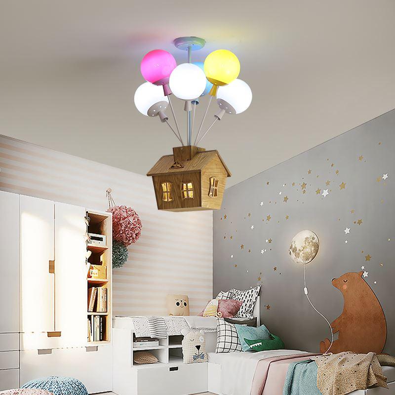 Moderne Led Anhänger Lampe Für Kinderzimmer Schlafzimmer Thema Park Decoretive Bunte Ballon Hängen Lampe Leuchte AC90-260V E27