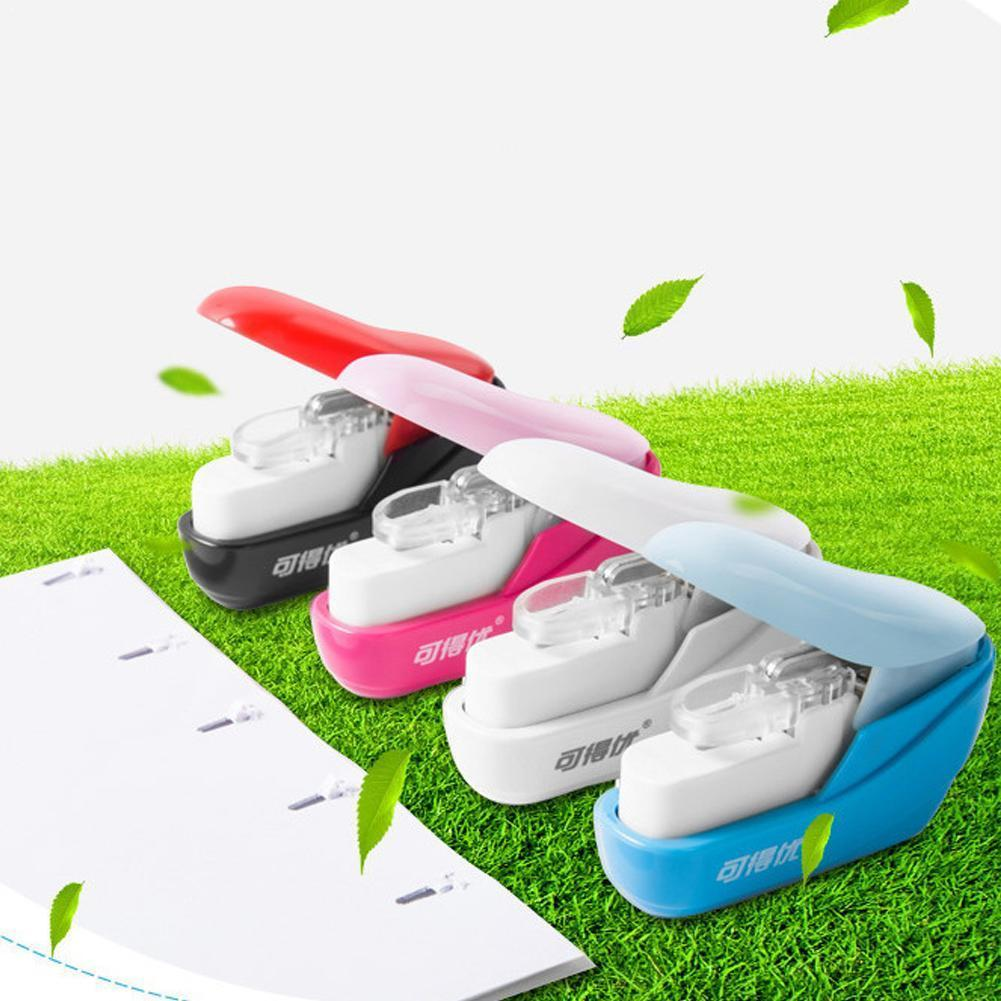 No Nails Stapling Machine Mini Kawaii Book Stapler Stapleless Office Supplies 5*2.5*5cm Paper Stapler O9W1