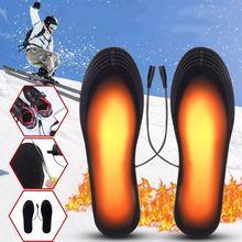 Унисекс, дышащие, милые, USB, с электрическим подогревом, стельки для ног, теплые, зимние, из углеродного волокна, для зарядки, дезодорирующие стельки
