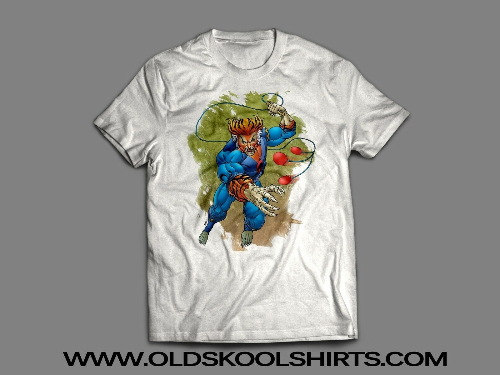 THUNDERCATS RETRO CARTOON TYGRA 1980'S Custom Mens T-Shirt MANY OPTIONS