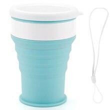 Портативный силиконовые выдвижной складной чашка с Крышка для бутылок стаканы для отдыха на воздухе складная бутылка для воды Кофе кружка для малыша студента