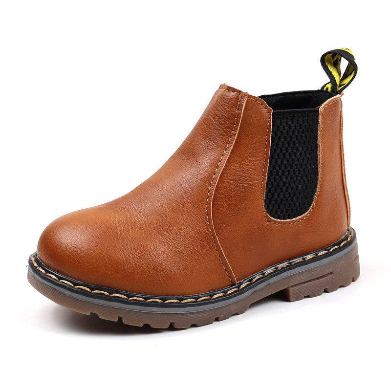 SKOEX Children's Boots Fur Lined Boys Girls Waterproof Side Zipper Short Ankle Snow Boots Winter Shoes Kids Baby Martin Booties