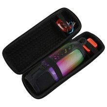 2 In 1 Hard Eva Carry Zipper Storage Box Bag+ Soft Silicone Case For Jbl Pulse 3 Bluetooth Speaker For Jbl Pulse 3(Black And Bla(China)