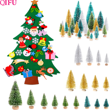 Felt Christmas Tree Xmas Decoration Artificial Mini Stand New Year Gifts Kids Ornaments Decor For Home