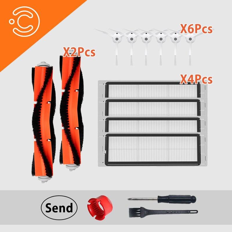 Vacuum Cleaner HEPA Side Brush Main Brush Filter Accessory For Millet 1.2 Roborock S50 S51 S6 Vacuum Cleaner Parts