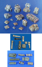 1/35 Scale Unpainted Resin Kits Bags for Tank and Vehicle(China)