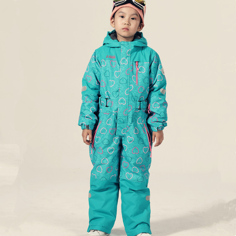 Winter Ski Suit Kids Snowboard Jacket Snow Suit Girls Sport Suit Waterproof Snowboard Jumpsuit Ski Jumpsuit Ski Suit Kids Skiing