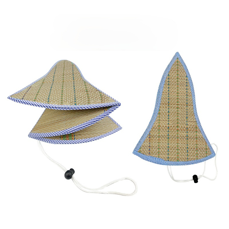 Double-sided Folding Straw Hat Sunscreen Sunshade Hat Collapsible Men and Women Can Wear Summer Farmer Hat Straw Hat