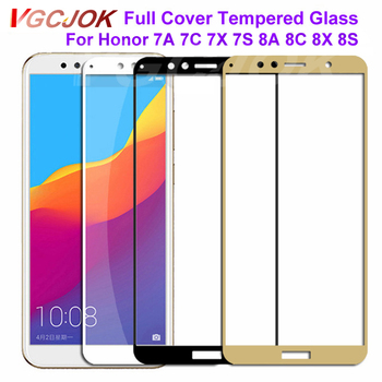9D Protective Glass on the For Huawei Honor 9 10 Lite 7A 7C Pro 7X 7S 8X 8A 8S Tempered Screen Protector Glass Safety Film Case 1