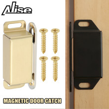 45/55/70mm Stainless Steel Magnetic Door Catch, Heavy Duty Magnet Latch Cabinet Catches for Cabinets Shutter Closet Furniture