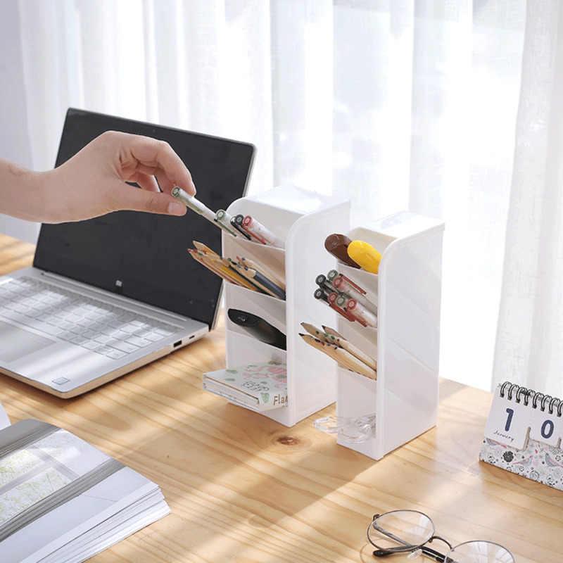 Faroot wysokiej jakości PP Officw organizer na biurko pulpit pióro piórnik uchwyt organizer na kosmetyki taca w poziomie lub w pionie