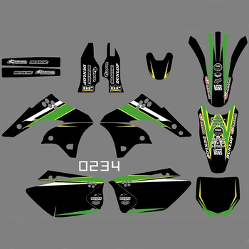 For KAWASAKI KXF250 2006 2007 2008 Graphics Decals Stickers Custom Number Name 3M Full Motorcycle Backgrounds Accessories