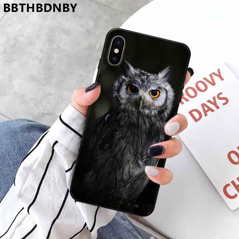 Cassa del telefono Molle Del Silicone Del Gufo TPU Copertura Del Telefono per il iPhone 11 pro XS MAX 8 7 6 6S Plus X 5 5S SE XR caso