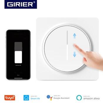 Tuya умный Wifi диммер светильник, Переключатель ЕС, сенсорная панель затемнения настенный выключатель 100-240 в, работает с Alexa Google Home, не требуетс...