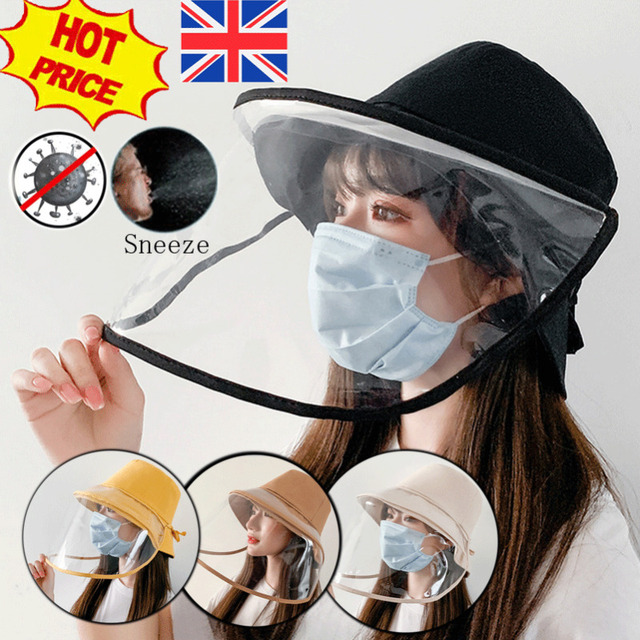 Protective Epidemic Anti-saliva Dust-proof Hat Safety Protection Tool Splash Dust Proof Full Face Shield Cover Windproof Beanies 5