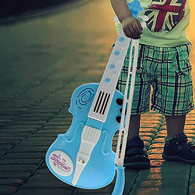 An Amazing Musical Instrument Violin Toy With 12 Music Demo Ringtones And Flashing Lights Color Blue