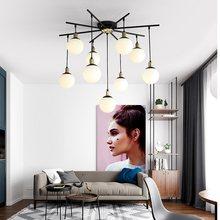 Chandelier Lighting Modern LED Glass Ball Lights Chandeliers Living Room Creative Pendant Ceiling chandeliers Lamp