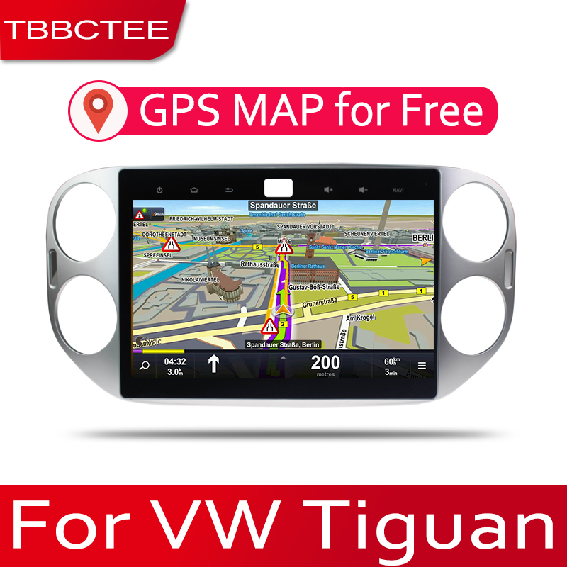 TBBCTEE Android 2 Din Car radio Multimedia Video Player auto Stereo GPS MAP For Volkswagen VW Tiguan 2007~2017 Media Navi