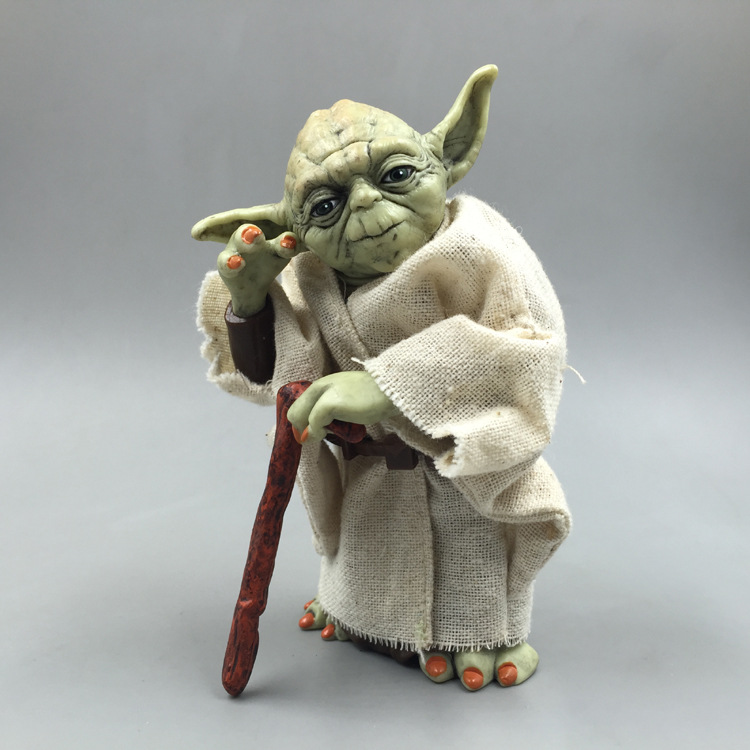 12CM Disney Star Wars Master Yoda Mandalorian PVC Master Action Figure Collectible Model Toys For Children