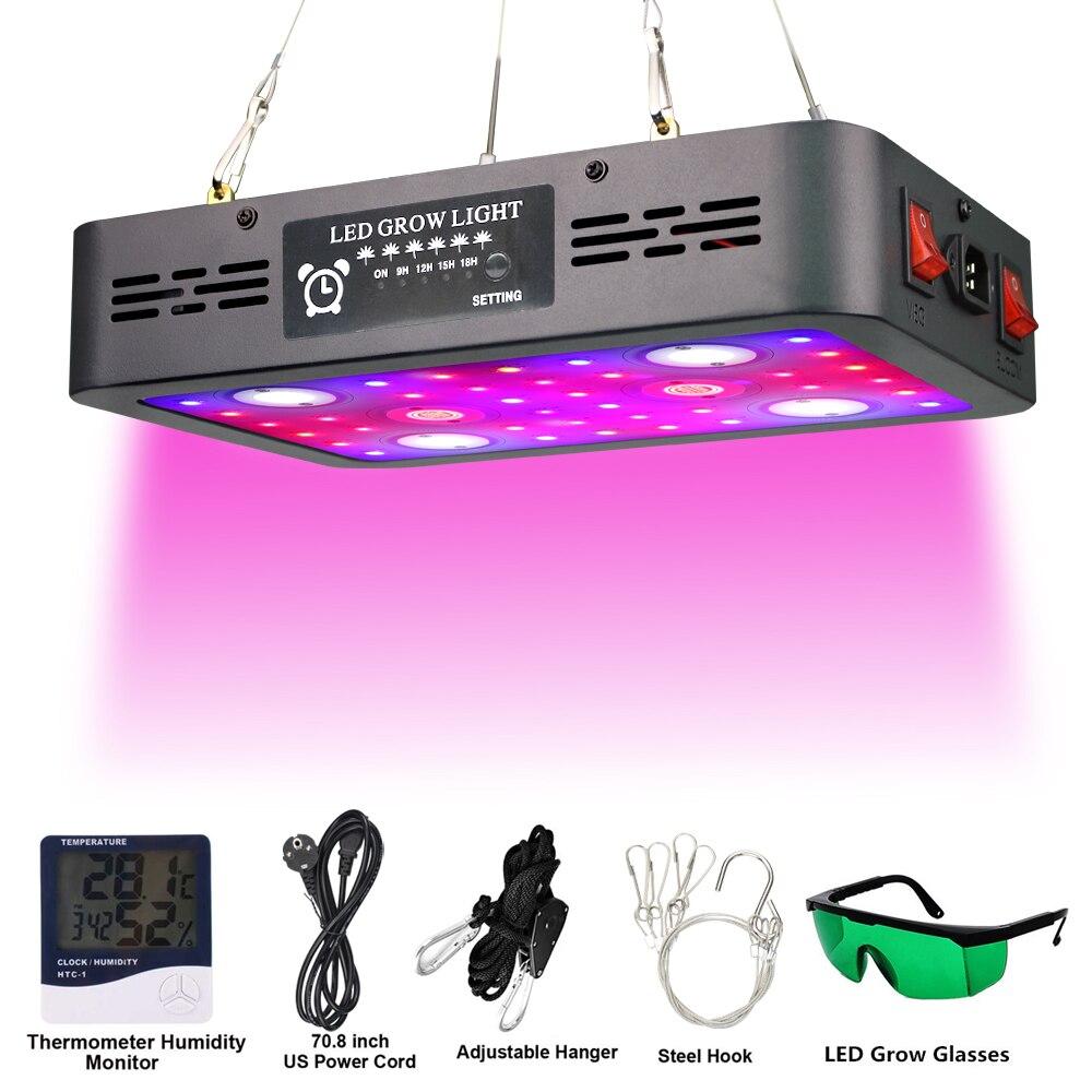 Полный спектр COB светодиодный Grow светильник Lamps1200W 2400W 3600W Phytolamp для комнатных растений посева цветок расти палатку