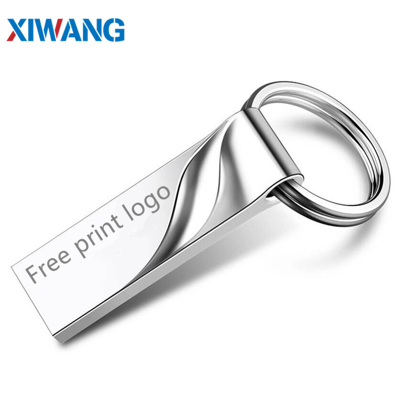 Hot Metal Usb Flash Drive 128GB Cle Usb 2.0 32GB Pen Drive 16GB 8GB 4GB 64GB Storage Memory Stick Key Pendrive Free Print Logo
