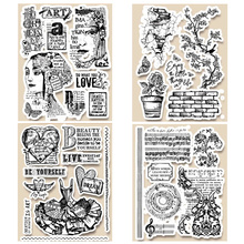 14 x 18 CM 2019 DIY New Stamps For Scrapbooking And Clear Stamps Card Making HD Natural Rubber Stamp Account Craft Set cheap Flower Animal Food FRUIT fish Vehicle Human Figure CLOUD Irregular Figure Clothing Cookware Bag Box TREE circle Bell Architecture