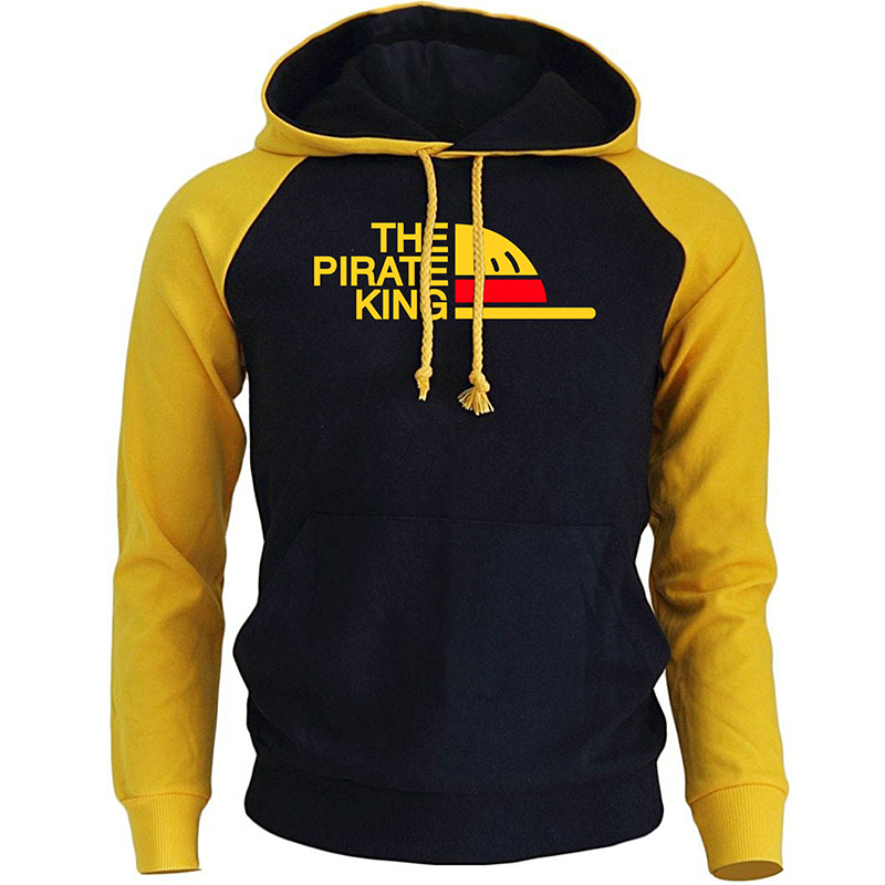 THE PIRATE KING Streetwear Hoodies For Men 2018 Autumn Winter Fleece Sweatshirt ONE PIECE Anime Harajuku Men's Hoodie Pullover