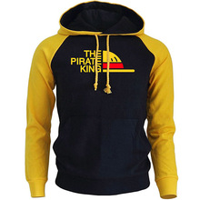 THE PIRATE KING Streetwear Hoodies For Men 2018 Autumn Winter Fleece Sweatshirt ONE PIECE Anime Harajuku Mens Hoodie Pullover