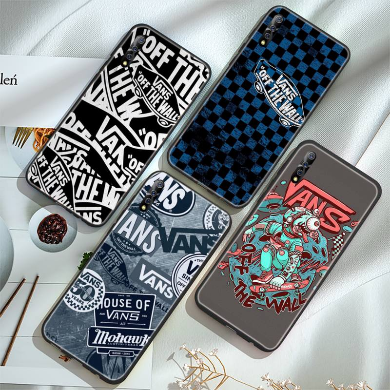 Telefon Fällen Für Vivo X 20 20plus Y1C 11 17 1 67 71 81 1 V11 11I 17 IQOO weiche Abdeckung Mode Skateboard Marke V-a-n-s