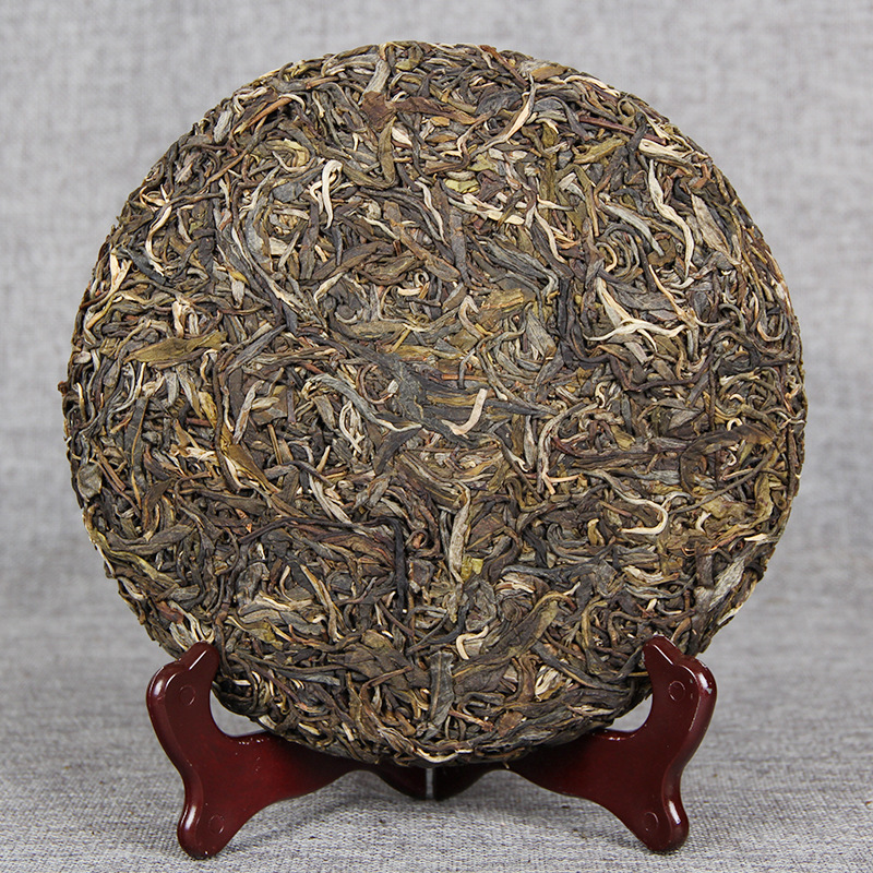 China Yunnan Raw Tea 2017 Spring Ancient Tea Pu'er Green Food for Health Care Lose Weight 2
