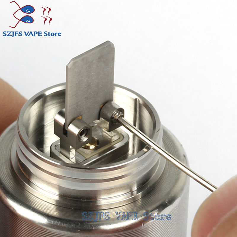 New Design NCR RDA Tank Electronic Cigarette RDA Vape Tank Atomizer 24mm Vaporizer Atomizer PEI Metal Material 0 4 0 5ohm gen25 in Electronic Cigarette Atomizers from Consumer Electronics