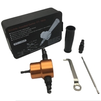 Cabeça dupla folha de metal nibbler cortador ferramenta de perfuração acessório com peças chaves e titular ferramenta de corte livre Furadeiras elétricas     -