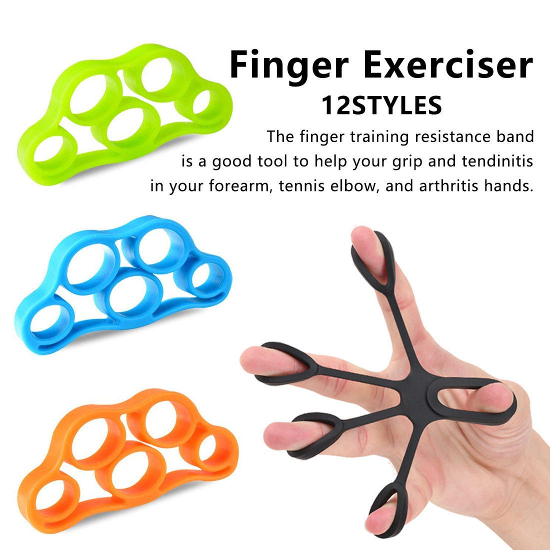 Finger Resistance Band Rubber Band Training Stretch Band Rubber String Chest Developer Fitness Equipment