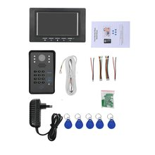 Wired Video Door Phone Intercom Doorbell With IR Camera 7 inch RFID Password Night Vision 1000 TV Line Access Control System for 4 apartments new wired 7 tft screen video door phone intercom entry system with infared night vision in stock