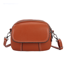 Fashion Europe And America Shoulder Bag Waterproof Pu Leather Solid Color Design Small Square Bag Casual Ladies Messenger Bag casual men s messenger bag with black color and cover design