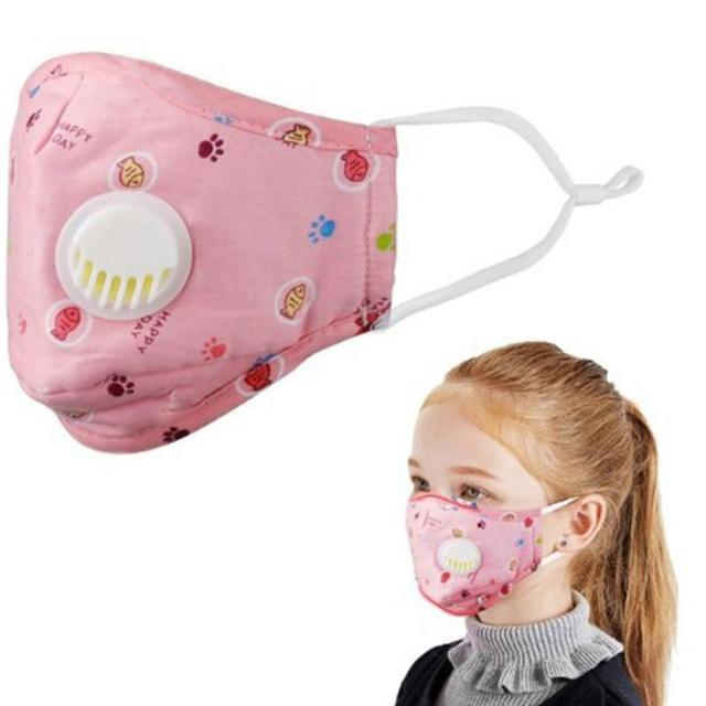 Mask with Filter Cotton Breath Valve Mouth Mask Cloth Activated Carbon filter Kid Mask 5