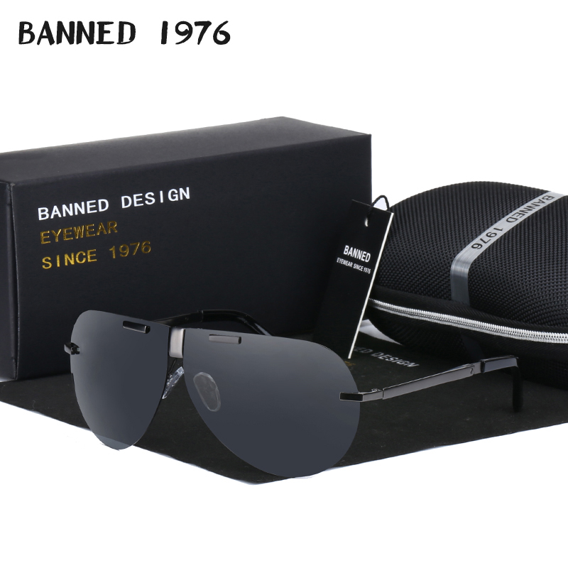 BANNED Hot Sunglasses Man 2017 Folding Fashion Polarized Driving fashion Sun Glasses for Men women Brand Designer Sunglasses image